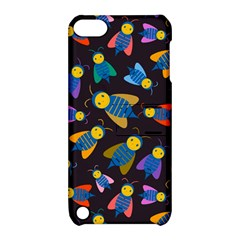 Bees Animal Insect Pattern Apple Ipod Touch 5 Hardshell Case With Stand