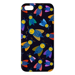 Bees Animal Insect Pattern Apple Iphone 5 Premium Hardshell Case
