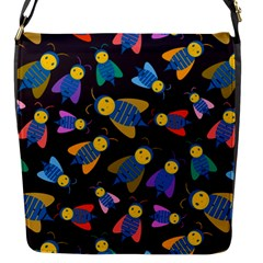 Bees Animal Insect Pattern Flap Messenger Bag (S)