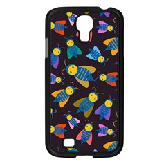 Bees Animal Insect Pattern Samsung Galaxy S4 I9500/ I9505 Case (Black)