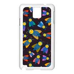 Bees Animal Insect Pattern Samsung Galaxy Note 3 N9005 Case (white)