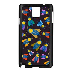 Bees Animal Insect Pattern Samsung Galaxy Note 3 N9005 Case (Black)