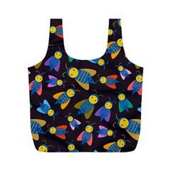 Bees Animal Insect Pattern Full Print Recycle Bags (m)