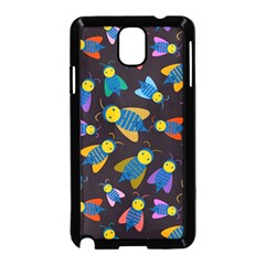 Bees Animal Insect Pattern Samsung Galaxy Note 3 Neo Hardshell Case (Black)