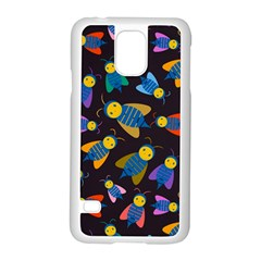 Bees Animal Insect Pattern Samsung Galaxy S5 Case (White)