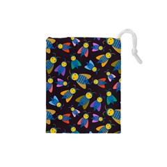 Bees Animal Insect Pattern Drawstring Pouches (small)
