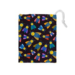 Bees Animal Insect Pattern Drawstring Pouches (Medium)
