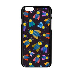 Bees Animal Insect Pattern Apple Iphone 6/6s Black Enamel Case