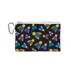 Bees Animal Insect Pattern Canvas Cosmetic Bag (S)