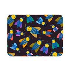 Bees Animal Insect Pattern Double Sided Flano Blanket (Mini)