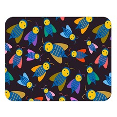 Bees Animal Insect Pattern Double Sided Flano Blanket (Large)