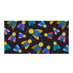 Bees Animal Insect Pattern Satin Wrap