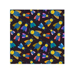 Bees Animal Insect Pattern Small Satin Scarf (square)
