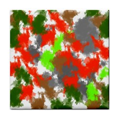 Abstract Watercolor Background Wallpaper Of Splashes  Red Hues Tile Coasters