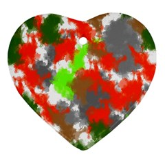 Abstract Watercolor Background Wallpaper Of Splashes  Red Hues Ornament (Heart)