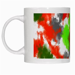 Abstract Watercolor Background Wallpaper Of Splashes  Red Hues White Mugs