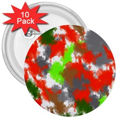 Abstract Watercolor Background Wallpaper Of Splashes  Red Hues 3  Buttons (10 pack)