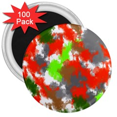 Abstract Watercolor Background Wallpaper Of Splashes  Red Hues 3  Magnets (100 pack)