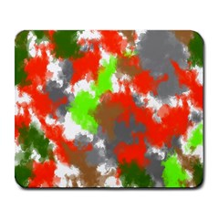 Abstract Watercolor Background Wallpaper Of Splashes  Red Hues Large Mousepads
