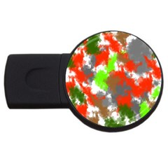 Abstract Watercolor Background Wallpaper Of Splashes  Red Hues USB Flash Drive Round (2 GB)