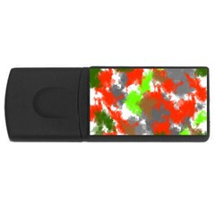 Abstract Watercolor Background Wallpaper Of Splashes  Red Hues USB Flash Drive Rectangular (1 GB)