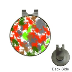 Abstract Watercolor Background Wallpaper Of Splashes  Red Hues Hat Clips with Golf Markers