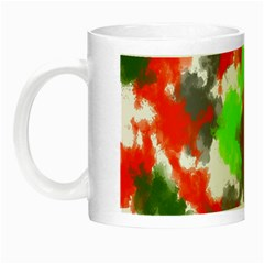 Abstract Watercolor Background Wallpaper Of Splashes  Red Hues Night Luminous Mugs