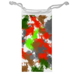 Abstract Watercolor Background Wallpaper Of Splashes  Red Hues Jewelry Bag