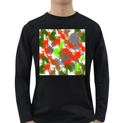 Abstract Watercolor Background Wallpaper Of Splashes  Red Hues Long Sleeve Dark T Shirts