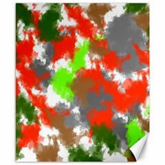Abstract Watercolor Background Wallpaper Of Splashes  Red Hues Canvas 8  x 10