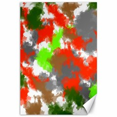 Abstract Watercolor Background Wallpaper Of Splashes  Red Hues Canvas 12  x 18