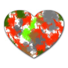 Abstract Watercolor Background Wallpaper Of Splashes  Red Hues Heart Mousepads