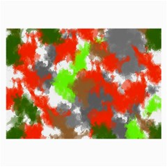 Abstract Watercolor Background Wallpaper Of Splashes  Red Hues Large Glasses Cloth (2-Side)