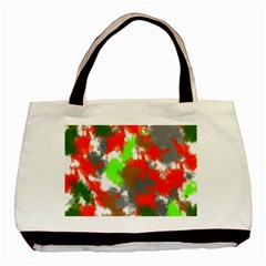 Abstract Watercolor Background Wallpaper Of Splashes  Red Hues Basic Tote Bag (Two Sides)