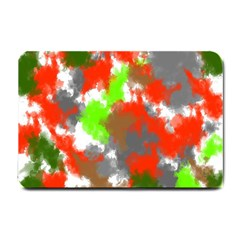 Abstract Watercolor Background Wallpaper Of Splashes  Red Hues Small Doormat