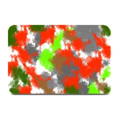 Abstract Watercolor Background Wallpaper Of Splashes  Red Hues Plate Mats