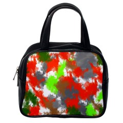 Abstract Watercolor Background Wallpaper Of Splashes  Red Hues Classic Handbags (One Side)