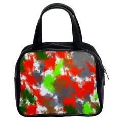 Abstract Watercolor Background Wallpaper Of Splashes  Red Hues Classic Handbags (2 Sides)