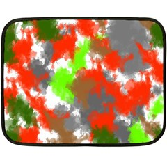 Abstract Watercolor Background Wallpaper Of Splashes  Red Hues Fleece Blanket (mini)