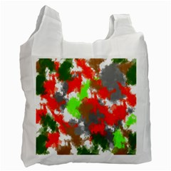 Abstract Watercolor Background Wallpaper Of Splashes  Red Hues Recycle Bag (One Side)