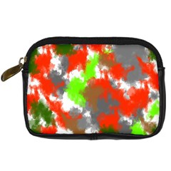Abstract Watercolor Background Wallpaper Of Splashes  Red Hues Digital Camera Cases