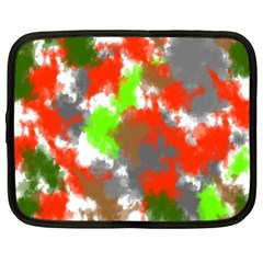 Abstract Watercolor Background Wallpaper Of Splashes  Red Hues Netbook Case (XXL)