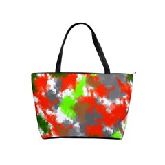 Abstract Watercolor Background Wallpaper Of Splashes  Red Hues Shoulder Handbags