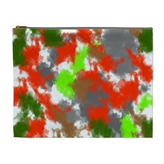 Abstract Watercolor Background Wallpaper Of Splashes  Red Hues Cosmetic Bag (xl)