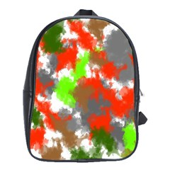 Abstract Watercolor Background Wallpaper Of Splashes  Red Hues School Bags(Large)