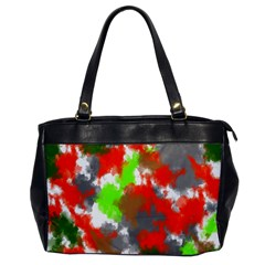 Abstract Watercolor Background Wallpaper Of Splashes  Red Hues Office Handbags