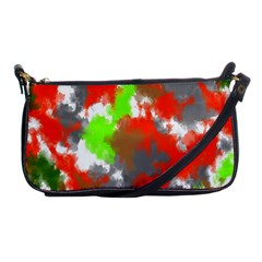 Abstract Watercolor Background Wallpaper Of Splashes  Red Hues Shoulder Clutch Bags