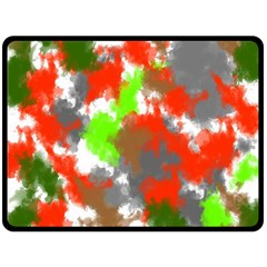 Abstract Watercolor Background Wallpaper Of Splashes  Red Hues Fleece Blanket (Large)