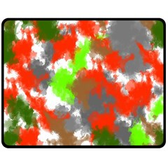 Abstract Watercolor Background Wallpaper Of Splashes  Red Hues Fleece Blanket (medium)
