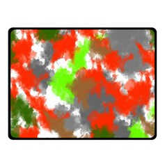 Abstract Watercolor Background Wallpaper Of Splashes  Red Hues Fleece Blanket (Small)